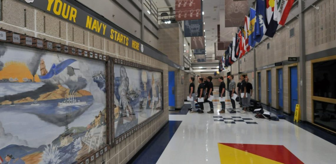 recruit training command great lakes receiving start boot camp