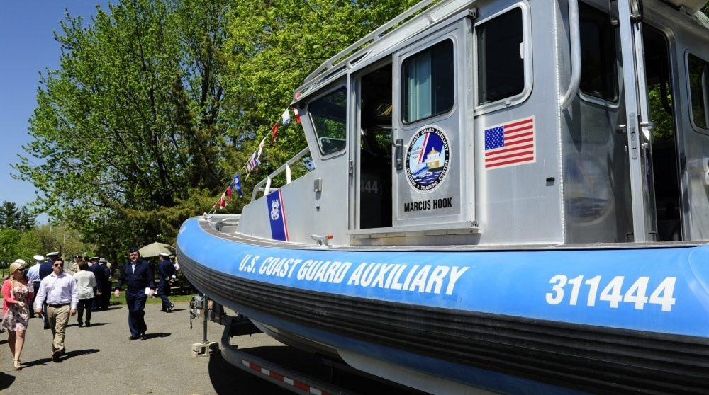 USCG auxiliary boat commissioning