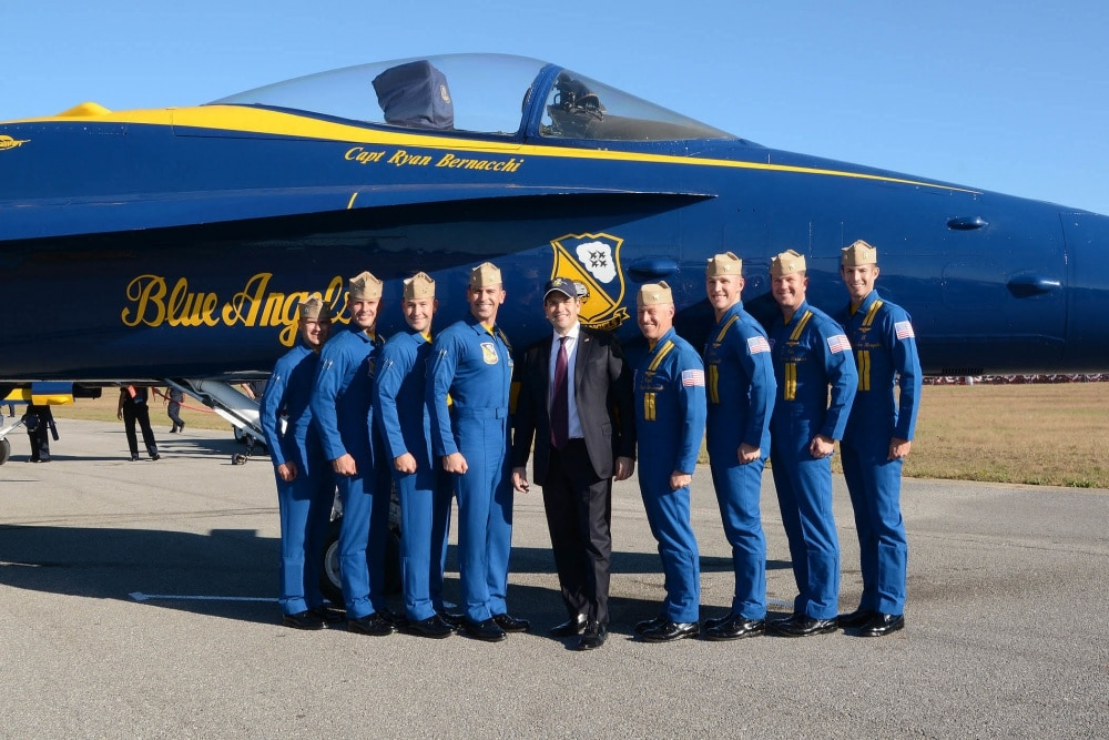 blue angels post with marco rubio