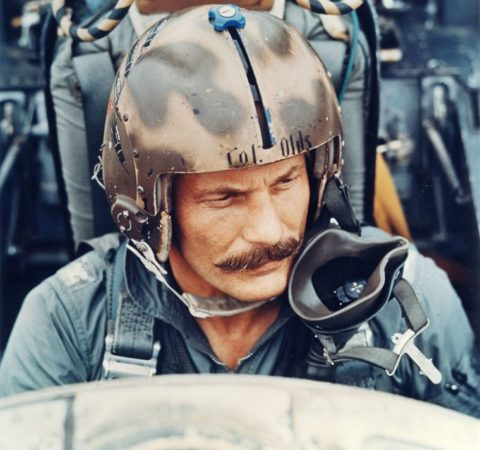 robin olds in his aircraft