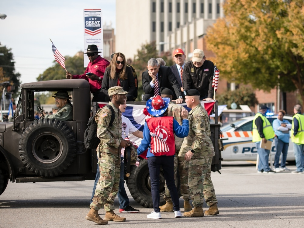 veterans day parade on fort jackson