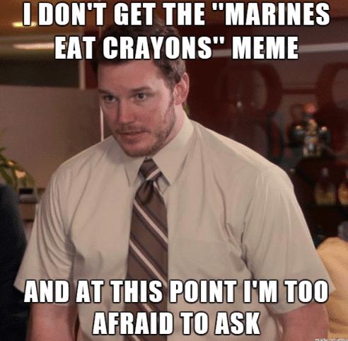 marines eat crayons