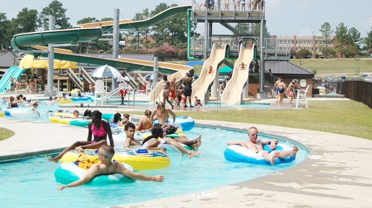 lazy river at fort jackson waterpark