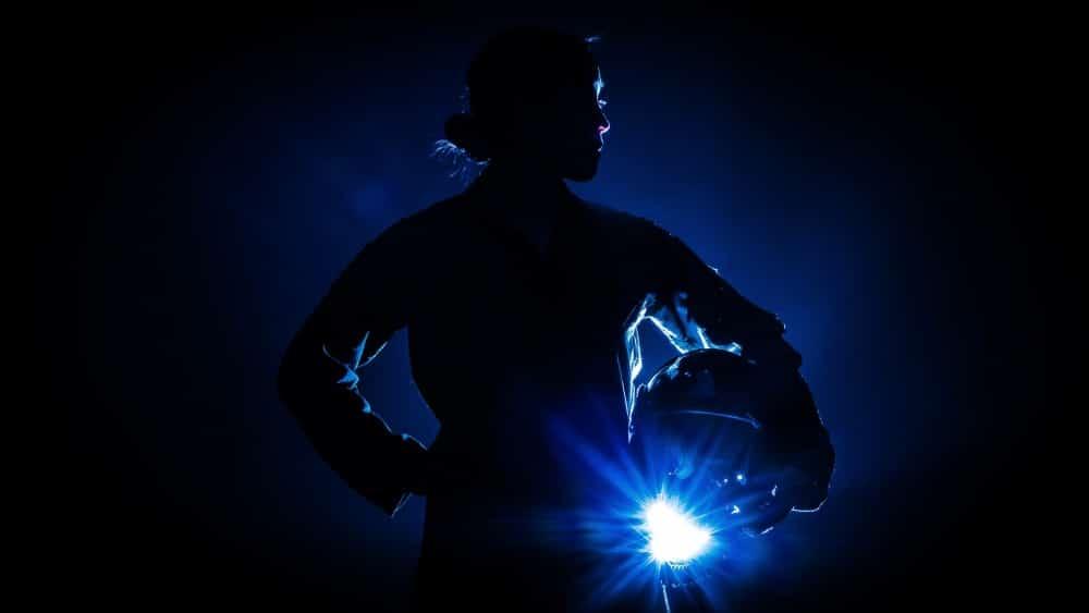 women's history month: female pilot silhouette