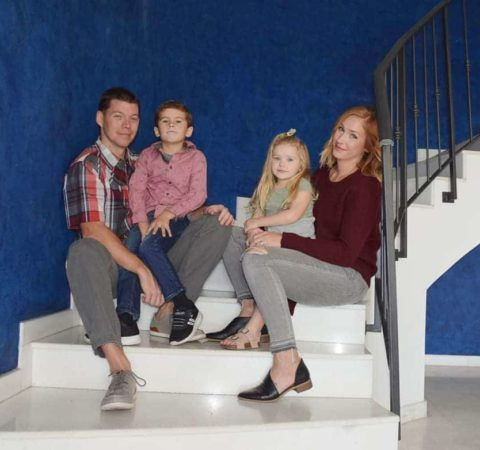 kappes family on stairs