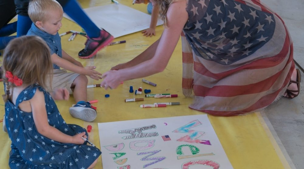 activities for kids at home: making welcome home signs