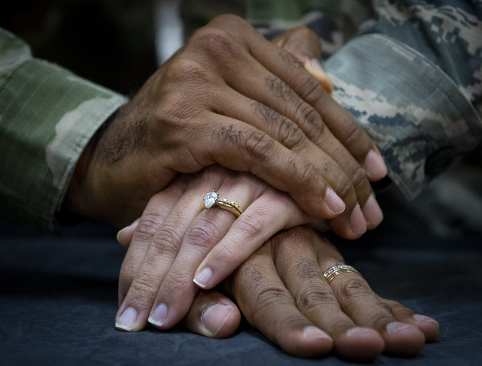 military marriages